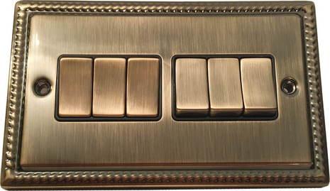 Шестиклавишный выключатель проходной Balfour Grand D3062AB