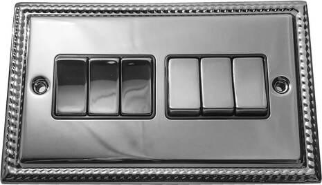 Шестиклавишный выключатель проходной Balfour Grand D3062PC
