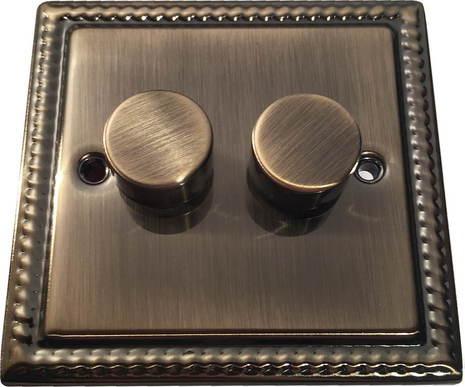 Двухклавишный светорегулятор проходной Balfour Grand D3505-22AB