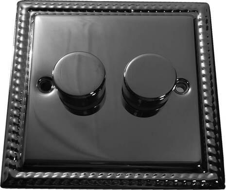 Двухклавишный светорегулятор проходной Balfour Grand D3505-22BN