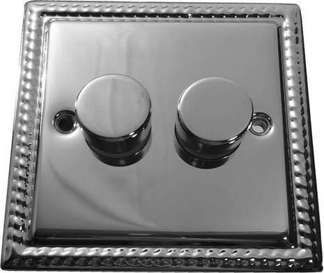 Двухклавишный светорегулятор проходной Balfour Grand D3505-22PC