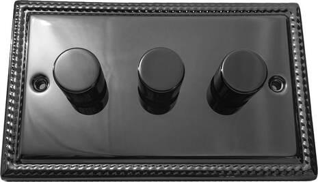 Трёхклавишный светорегулятор проходной Balfour Grand D3505-32BN