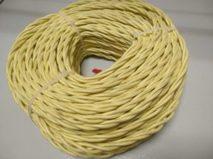 DV003428 Ретро проводка DVCab провод витой  «Желтый» 2*1,5