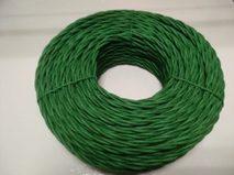DV003446 Ретро проводка DVCab провод витой«Зеленый» 3*0,5