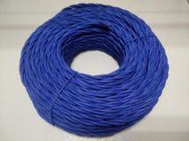 DV003454 Ретро проводка DVCab провод витой  «Синий» 3*0,5
