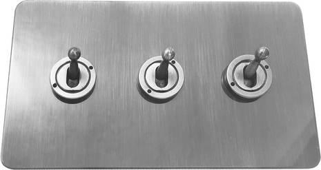Трёхклавишный тумблерный выключатель проходной Balfour Excellent E1110BC