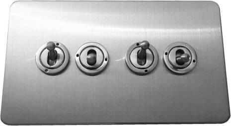 Четырёхклавишный тумблерный выключатель проходной Balfour Excellent E1111BC