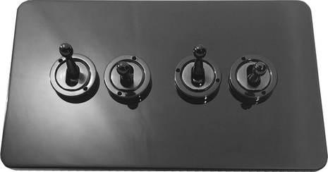 Четырёхклавишный тумблерный выключатель проходной Balfour Excellent E1111BN