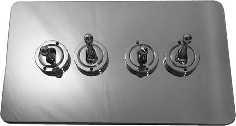 Четырёхклавишный тумблерный выключатель проходной Balfour Excellent E1111PC