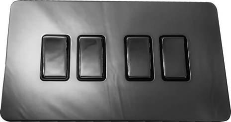 Четырёхклавишный выключатель проходной Balfour Excellent E3042BN
