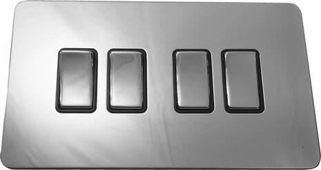 Четырёхклавишный выключатель проходной Balfour Excellent E3042PC