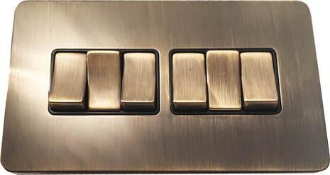 Шестиклавишный выключатель проходной Balfour Excellent E3062AB