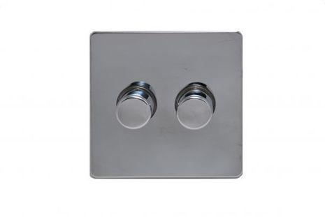 Диммер двухклавишный проходной TJ Electric G2522-2-400-86-РС