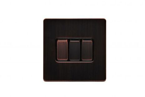 Трёхклавишный проходной выключатель TJ Electric G253-2-86-BZ