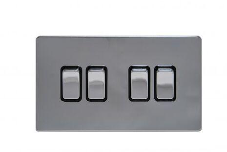 Четырёхклавишный проходной выключатель TJ Electric G254-2-146-РС