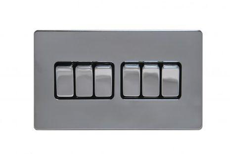 Шестиклавишный проходной выключатель TJ Electric G256-2-146-РС
