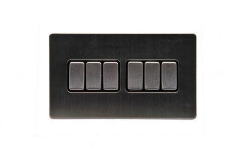 Шестиклавишный проходной выключатель TJ Electric G256-2-146-SS