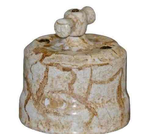"""Выключатель 1-кл (проходной) керамический """"KERUDA Verona"""", проходной цвет мрамор арт.KVSw1-K05"""