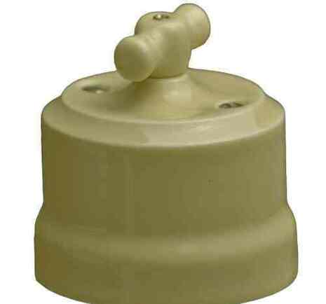 """Выключатель керамический 2-кл """"KERUDA Verona"""" слоновая кость арт.KVSw2-K02"""