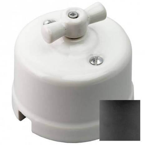 Выключатель 1-кл (проходной), серый Retrika арт.R-SW-110