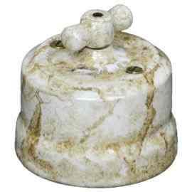 """Выключатель 1-кл (проходной) керамический """"KERUDA Verona"""", проходной цвет мрамор VKKVM"""