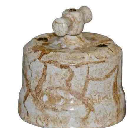 """Выключатель керамический 2-кл """"KERUDA Verona"""" цвет мрамор арт.VKKVM2"""
