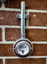 PETRUCCI Розетка 16 А с заземлением, сталь, цвет сталь, арт. 21ST7