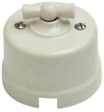 B1-203-211 Bironi Перекрестный выключатель пластик, слоновая кость
