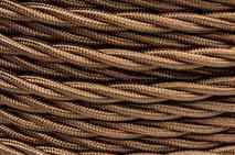 B1-422-073  Провод витой глянцевый BIRONI 2x0,75 (Бронза)