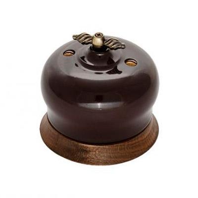 B2-202-020/18 Bironi Выключатель 2-х кл. Фаберже шоколадная ночь
