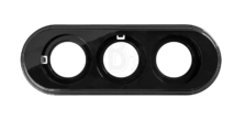 BF1-630-23 Bironi Рамка 3-х постовая, Пластик черный