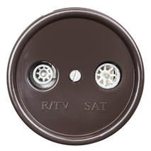B1-304-22 Bironi Розетка TV/R-SAT проходная коричневый