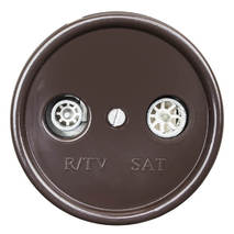 B1-305-22 Bironi ТV\FM розетка, коричневая