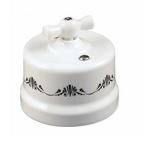 B1-202-01 D3/1 Bironi Выключатель двухклавишный, декор