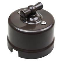 B1-203-22 Bironi Перекрестный выключатель пластик, коричневый
