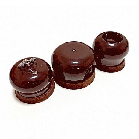 Выключатель 1-кл (проходной) B2-201-020/18 Bironi Фаберже шоколадная ночь