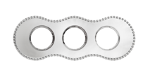 BF8-630-30 Bironi Рамка трехместная, Металл хром