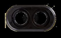 BF1-620-23 Bironi Рамка 2-х постовая, Пластик черный
