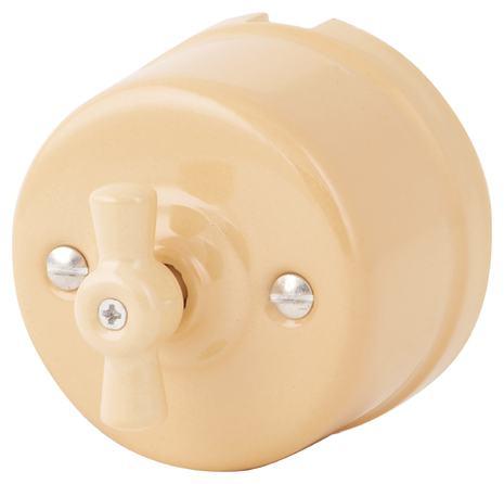 080-903 Выключатель Нуволато проходной двухклавишный, керамический. 240V, 10A.