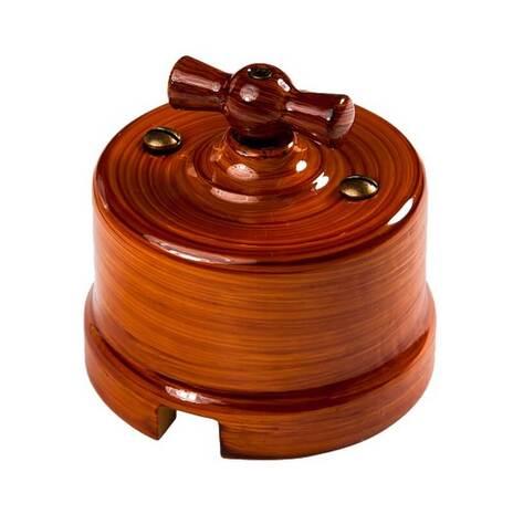 Выключатель 1-кл (проходной) B1-201-IB Bironi на одно положение, императорский бамбук