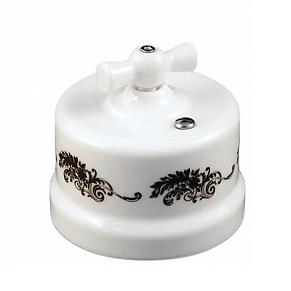 B1-202-01 D2/1 Bironi Выключатель двухклавишный, декор