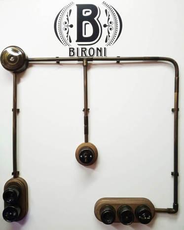 Муфта соединительная для трубы d-16мм, пластик, бронза, Bironi BTM1-16-25