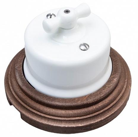 Выключатель 1-кл (проходной) Combi-1 BIRONI, 10А, 250В, D65*48мм в комплекте с 1-местной рамкой BIRONI 96*96*21мм B1-201-01/C-17 Белый