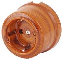 080-460 Розетка Шандон Руж электрическая керамическая. С заземляющим контактом.240V, 16A.