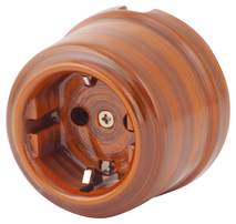 080-439 Розетка Руж Антик электрическая керамическая. С заземляющим контактом.240V, 16A.