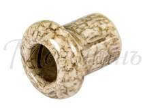 Втулка межстеновая фарфоровая, цвет - Мрамор, D25, H25мм МЕЗОНИНЪ GE70010-19