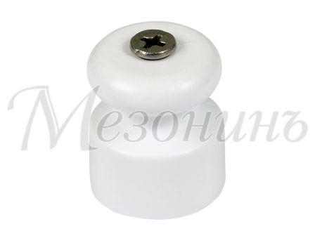 Изолятор пластиковый D20x22 витого кабеля, цвет - белый МЕЗОНИНЪ GE70017-01