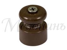 Изолятор пластиковый D20x22 витого кабеля, цвет - коричневый МЕЗОНИНЪ GE70017-04