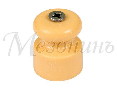 Изолятор пластиковый D20x22 витого кабеля, цвет - песочное золото МЕЗОНИНЪ GE70017-32