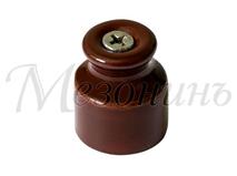 Изолятор фарфоровый коричневый витого провода, D20х24, МЕЗОНИНЪ GE70020-04